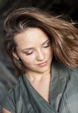 Ragazza teenager del bello Brunette Fotografia Stock