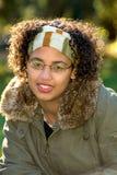Ragazza teenager dell'afroamericano Fotografie Stock Libere da Diritti