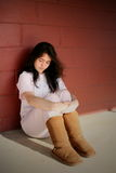 Ragazza teenager depressa triste Fotografia Stock