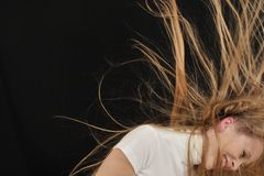 ragazza teenager di età dei capelli lunghi Immagini Stock