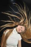 Ragazza teenager di età dei capelli lunghi biondi sexy Immagini Stock Libere da Diritti