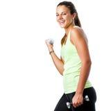 Ragazza teenager felice che fa allenamento di forma fisica Immagini Stock