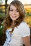 ragazza teenager nella fine dell'estate Fotografie Stock Libere da Diritti