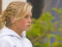 Ragazza teenager seria Fotografia Stock Libera da Diritti