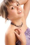 Ragazza teenager sorridente fotografie stock