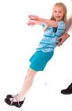 Ragazza teenager su un fondo bianco Immagini Stock