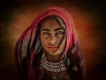 Ragazza tribale indiana da Pushkar Fotografia Stock