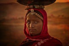 Ragazza tribale indiana da Pushkar Immagini Stock Libere da Diritti