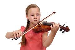 Ragazza triste con un violino Fotografie Stock