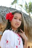 Ragazza tropicale fotografia stock