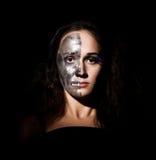 Ragazza Two-faced Fotografia Stock Libera da Diritti