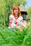 Ragazza ucraina in vestiti nazionali Immagine Stock Libera da Diritti