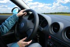 Ragazza in un'automobile Fotografia Stock