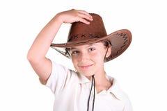 Ragazza in un cappello immagini stock libere da diritti