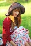 Ragazza in un cappello Fotografia Stock Libera da Diritti