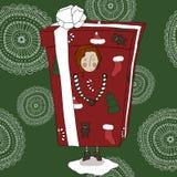 Ragazza in un costume del regalo illustrazione vettoriale