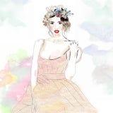ragazza in un vestito dal pizzo Immagine Stock