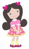 Ragazza in un vestito rosa Immagine Stock