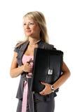 Ragazza, una donna di affari con una cartella Fotografie Stock