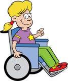 Ragazza in una sedia a rotelle Fotografie Stock