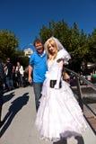 Ragazza variopinta composta come sposa Fotografie Stock Libere da Diritti