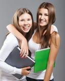 Ragazza vestita casuale degli studenti della High School Fotografia Stock