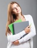 Ragazza vestita casuale dell'allievo della High School Fotografie Stock Libere da Diritti