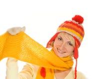 Ragazza in vestiti di inverno fotografia stock libera da diritti