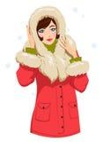 Ragazza in vestiti di inverno Immagini Stock