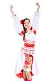 Ragazza in vestiti tradizionali Fotografia Stock Libera da Diritti