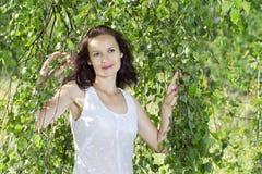 Ragazza in vestito bianco Fotografia Stock Libera da Diritti