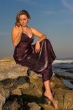 Ragazza in vestito da sera Fotografia Stock
