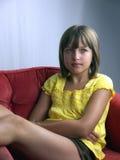 Ragazza in vestito giallo Fotografia Stock Libera da Diritti
