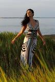 Ragazza in vestito meraviglioso fotografie stock libere da diritti