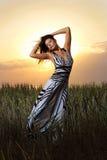 Ragazza in vestito meraviglioso fotografie stock