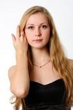 Ragazza in vestito nero Fotografia Stock Libera da Diritti