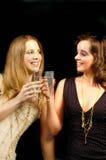 Ragazze 2 del champagne Fotografia Stock