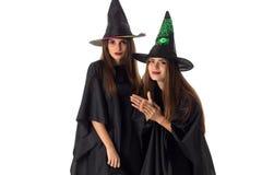 Ragazze adorabili nello stile di Halloween Immagini Stock
