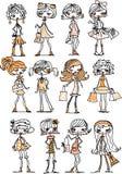 Ragazze alla moda del fumetto Immagine Stock