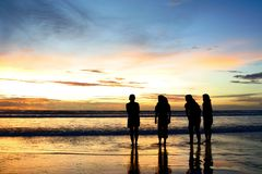 Ragazze alla spiaggia Fotografia Stock Libera da Diritti
