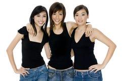 Ragazze asiatiche Fotografia Stock Libera da Diritti
