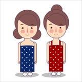 Ragazze che indossano le bande del costume luglio di patriottismo di U.S.A. America di celebrazione del 4 facendo uso dell'illust illustrazione vettoriale