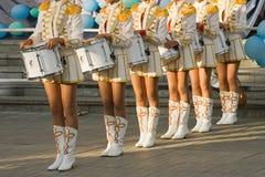 Ragazze con i tamburi Fotografia Stock