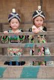 Ragazze dall'Asia Hmong Fotografia Stock