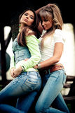 Ragazze dei jeans Fotografia Stock