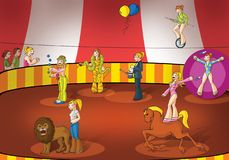 Ragazze del circo illustrazione di stock