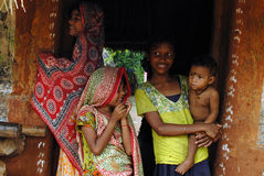 Ragazze del villaggio Fotografia Stock Libera da Diritti