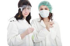 Ragazze dell'infermiera Fotografie Stock