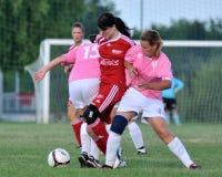 Ragazze di calcio Fotografia Stock
