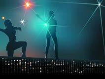 Ragazze di Dancing Immagine Stock